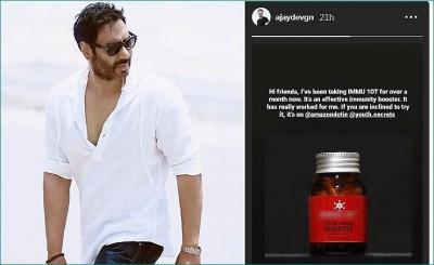 Ajay Devgn promotes immunity booster drug, Fan commented