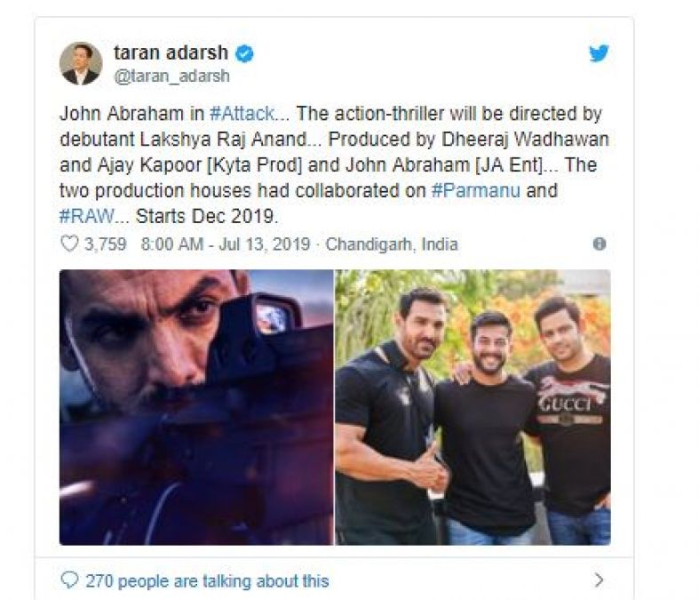 Good News For John's Fans, Will Be doing a big 'Attack' After 'Batla House'!