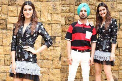 Kriti-Diljit start Arjun Patiala's promotion, This actress wreaks havoc in short dress!