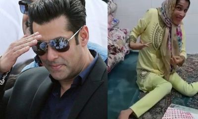 Salman's special fan made a special painting with her feet, Salman got shocked
