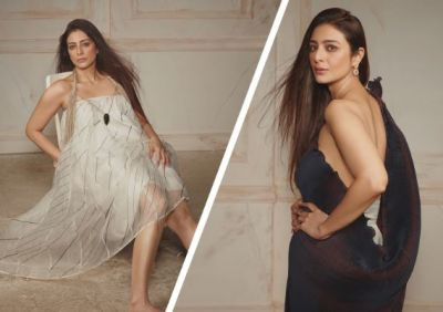 Tabu is seen in a bold look on the cover of IDiva magazine