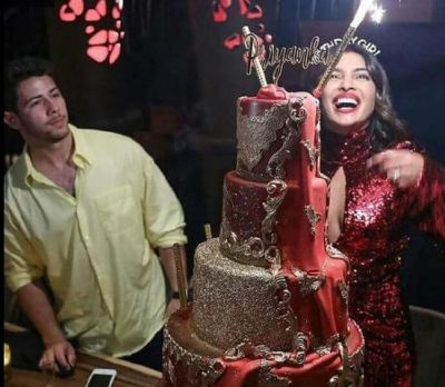 Priyanka cut her birthday cake wearing this trendy dress!