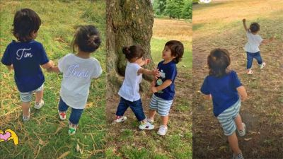 Inaya-Taimur enjoy and have fun at the park, See Photos