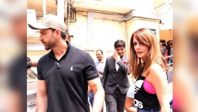 Hrithik Roshan spotted on a movie date with ex-wife Sussanne Khan