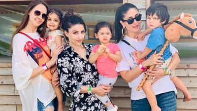 Taimur was seen like this in his mother's lap, Soha shared a photo with her daughter!