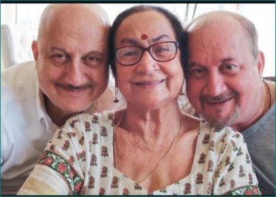 Anupam's mother returned home, shared video and wrote