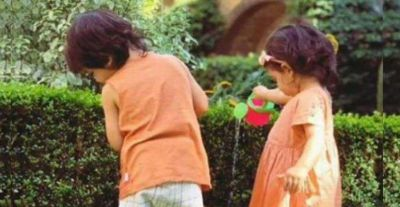 Along with Sister Inaya Taimur Gave Water to Plants, Cute Photos Viral!