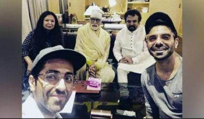 Ayushman's Family Spotted With Big B, Photo Go Viral
