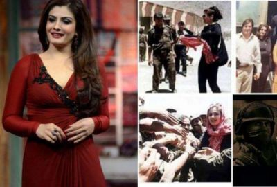 Raveena shares a 20-year-old photo when she boosted the courage of Kargil's young men!