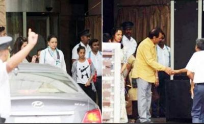 Hema-Dharmendra snapped spending quality time with family