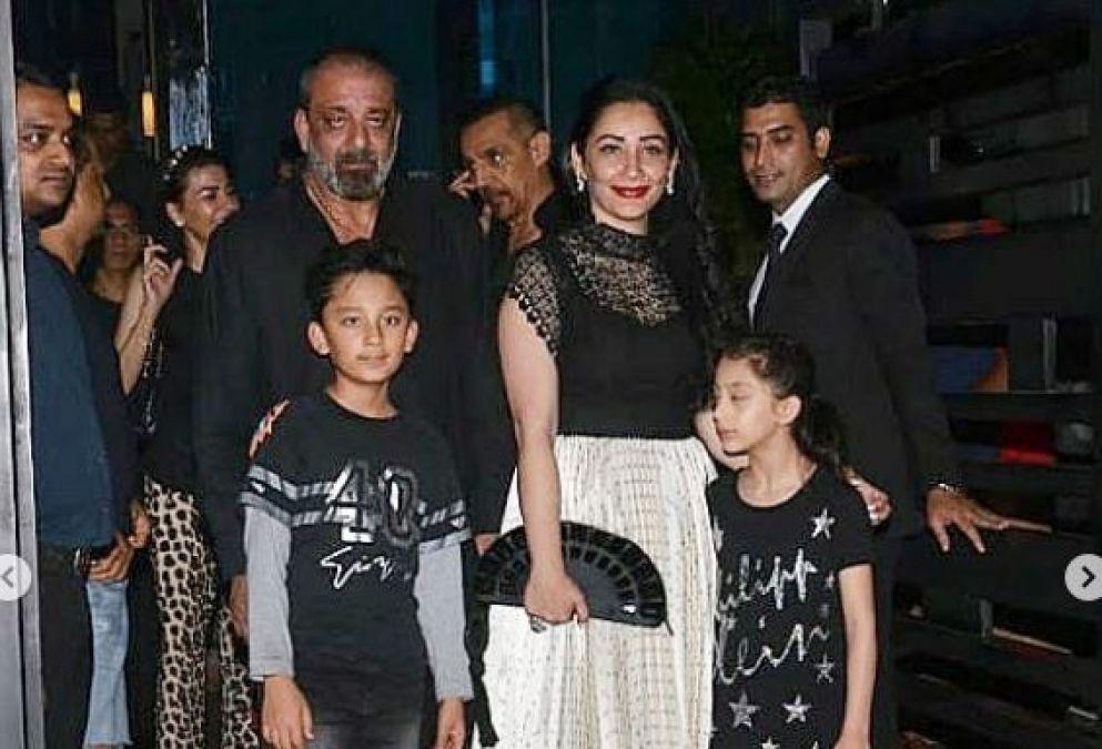 अपनी पत्नी और बच्चो संग संजय दत्त ने मनाया जन्मदिन, तस्वीरें और वीडियो हो रहे वायरल