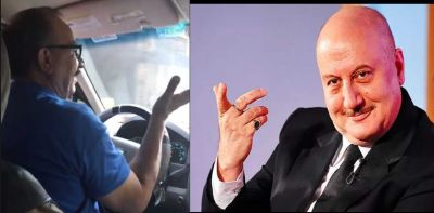 Video: Anupam Kher said this to the cab driver, see here!