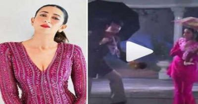 After watching her mom and dad romance in the rain; Karisma did such a thing, video viral!