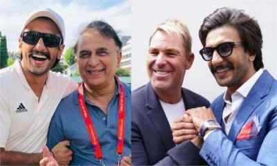 Ranveer Singh shares photos with cricket legends