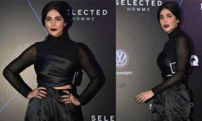 GQ Best Dressed 2019 : ब्लैक ड्रेस के साथ डार्क लिपस्टिक में कातिल नजर आई श्रुति हसन