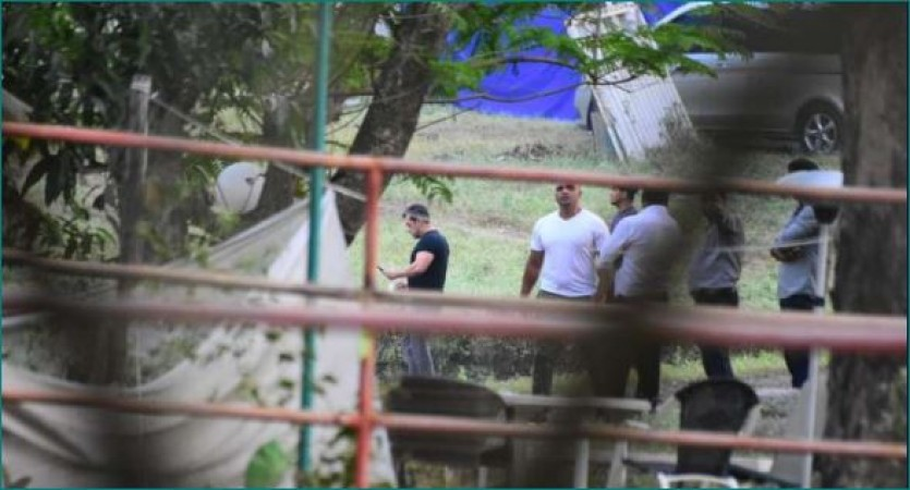 Iulia Vantur Share Picture Of Nisarga S Impact On Salman S Farm House Newstrack English 1