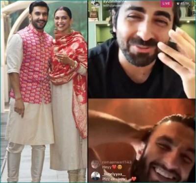 Deepika Padukone reprimands Ranveer Singh during live chat with Ayushmann Khurrana