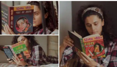Taapsee Pannu's interested in Hindi novels, shared post
