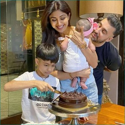 Shilpa celebrated her birthday with her husband and children