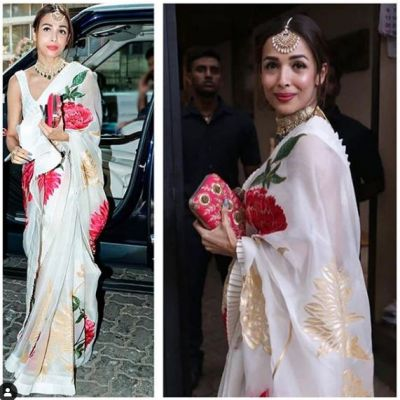 Malaika Arora looked beautiful in saree for the first time, see photos!