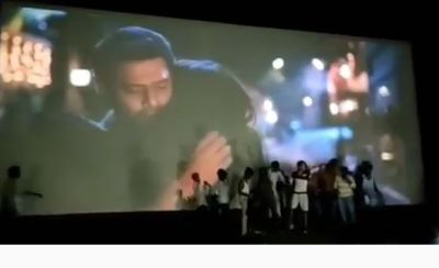 In the theatre, Prabhas ' fans made a loud noise, on the teaser of Saaho!