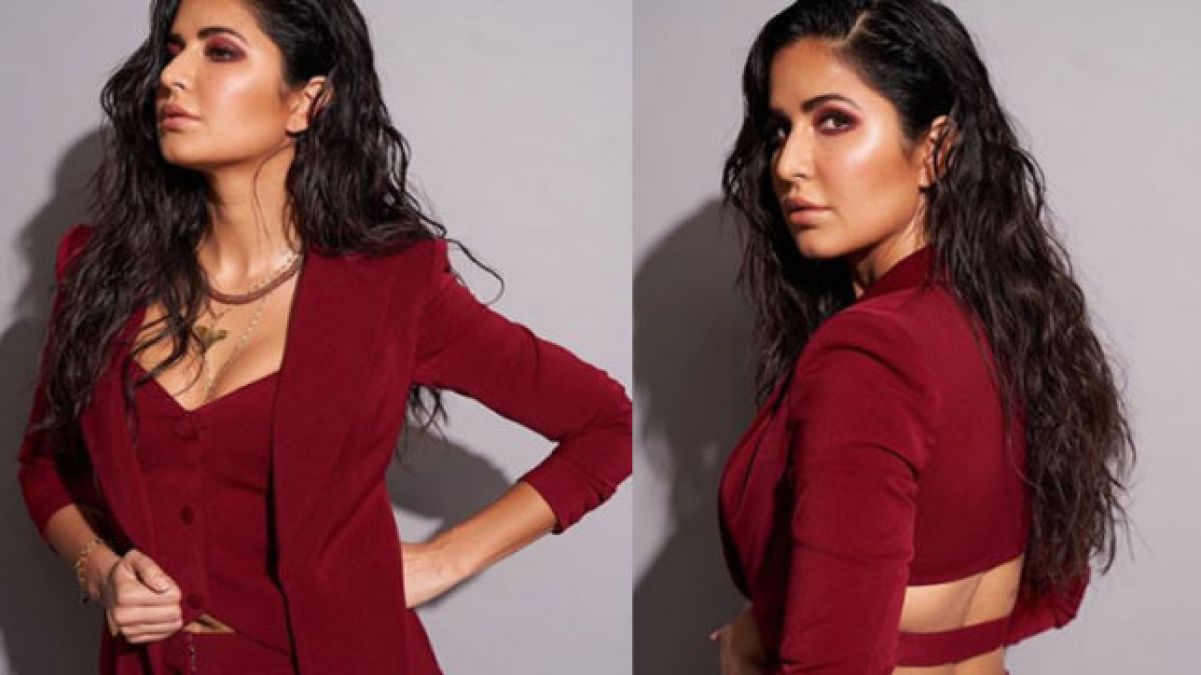 Katrina kaif stuns in red dress, video goes