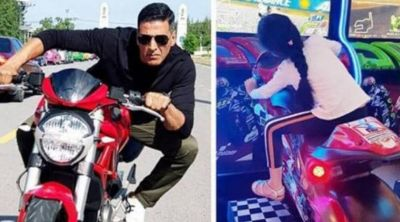 Akshay's daughter performs a stunt like her father; shares photo!