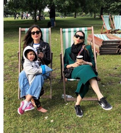 'Bebo' along with sister and son, enjoying her vacations in London