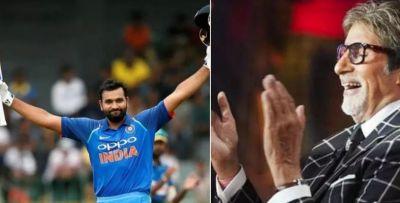 Big B gets Impressed on Rohit Sharma's reply on Pakistani batsmen!