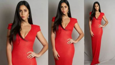Katrina Wins Millions of Hearts in Red Gown, Watch Video!