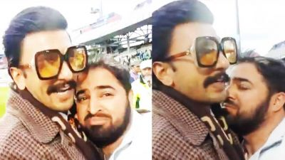 Seeing Pakistani Fan cry; the heart of Ranveer Singh melts, does this...