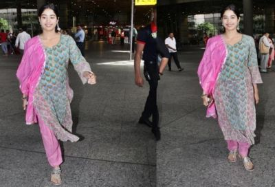 Janhavi Kapoor again slays in ethnic attire at Airport; see her hot avatar
