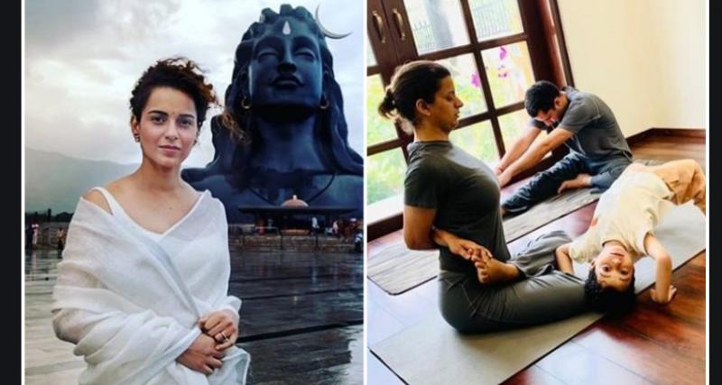 योगा करने से लौटी कंगना की बहन रंगोली की आँख की रोशनी, अदाकरा ने शेयर की कहानी