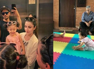 Taimur's sister doing yoga at the age of one-and-a-half years, see photo!