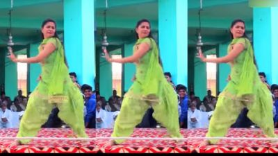 VIDEO: In a green suit; Sapna Chaudhary steals the show!