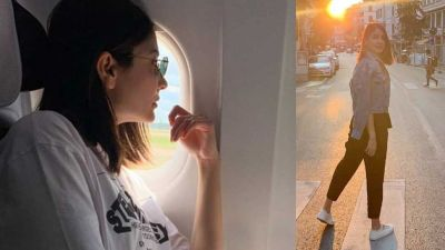 After London now, Anushka arrived at Brussels for Virat