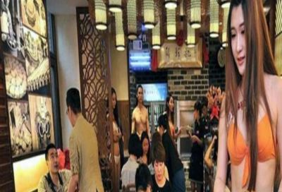 In this restaurant, waitresses serve food in Bikini