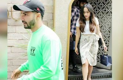 Varun Dhawan Spotted with his girlfriend on lunch