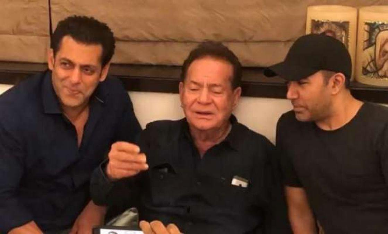 Salman Khan along with father Salim Sang 'Suhani Raat', Video Viral!