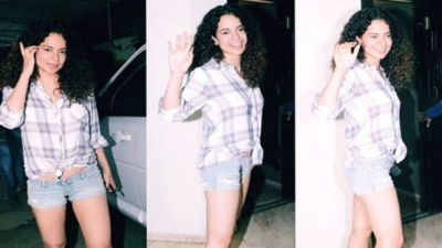 Kangana Ranaut in shorts looked cool enough to wreak havoc on Instagram