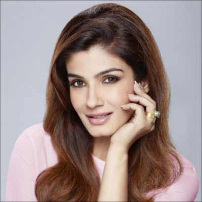 Tiger emerges from the front of Raveena Tandon, actress expresses concern by sharing video