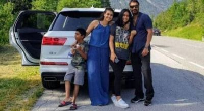 Devgan family goes for a road trip, Ajay-Kajol spend gala moments with children