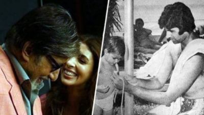 Amitabh Bachchan and Shweta Bachchan Nanda give father-daughter relationship goals