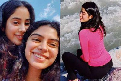 Janhavi Kapoor set out to enjoy with her 'Girl Gang', enjoys the beauty of nature alongside a river