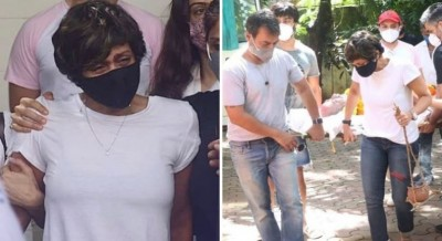 Mandira Bedi takes her husband to crematorium with her hands, this happened at the time of Fire