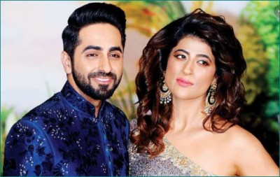 Ayushmann's wife seen flaunting curly hair and big earrings