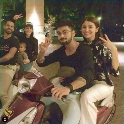 Virushka seen riding scooty, cute picture going viral