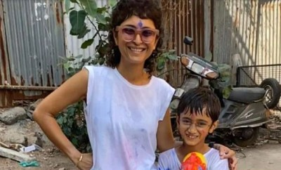 Aamir Khan's family celebrated Holi fiercely, see pictures