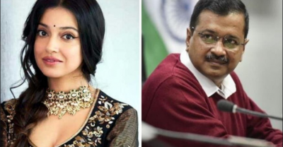 The actress gets angry with Arvind Kejriwal, says, 'Spending money on personal advertisement'