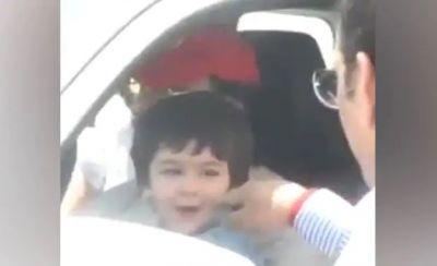 VIDEO : राह चलते राहगीर ने तैमूर को लगाया हाथ और फिर कुछ ऐसा हुआ उसका हश्र